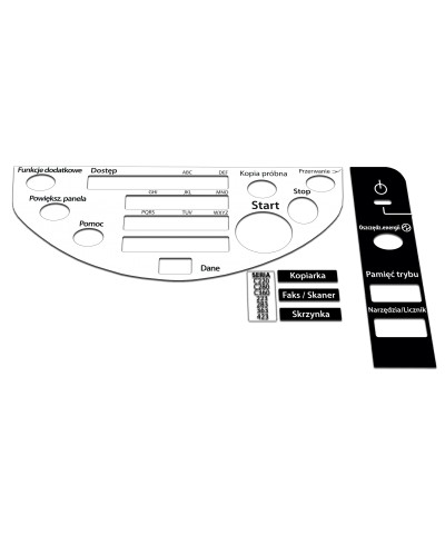 Konica Minolta Bizhub C220/C280/C360 Naklejka na panel