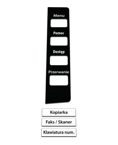 Konica Minolta Bizhub 4050 / 4750 Naklejka na panel