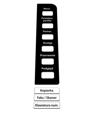 Konica Minolta Bizhub C224e/C284e/C364e Naklejka na panel
